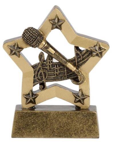 3.25' Resin Singing Karaoke trophy Free Engraving up to 30 Letters in Board...