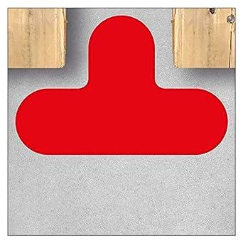 Selbstklebende Bodenmarkierung T-St/ück//T-Form 290 x 190 mm//Schenkel 90 mm // 1 St/ück//Blau Formst/ücke f/ür Arbeitsbereiche Lagerfl/ächen und Transportwege