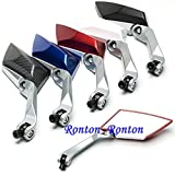 Naomi Drury Universal Motorcycle Scooter Bike Side Rear View Mirrors Sets Modification Back Mirror Silver 25cm