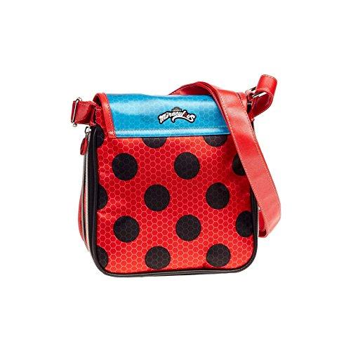 Karactermania Ladybug Marinette Borsa Messenger, 22 cm, Rosso (Rojo)