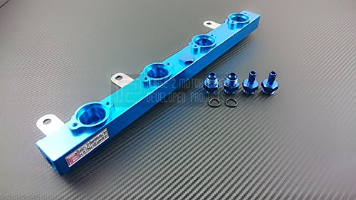 P2M Nissan S14/15 SR20DET Billet Aluminum Side Feed Injector Fuel Rail Kit 2-FRKSNS145-WSK