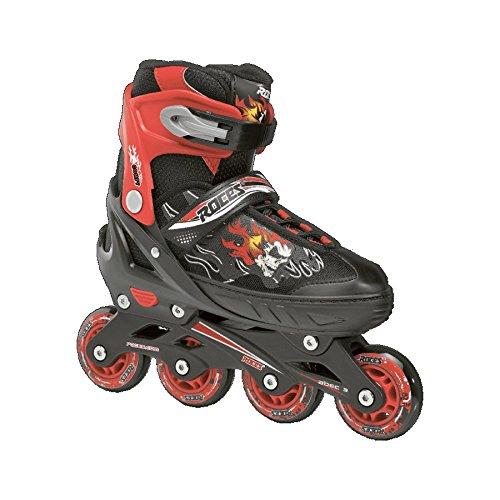 Roces 400808 Men's Model Compy 6.0 Adjustable Inline Skate, US 2.5-4.5, Black/Red