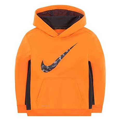 0b6ca22b1126 Image Unavailable. Image not available for. Color  Nike KO Therma-Fit  Pullover Hoodie Orange Boys 7