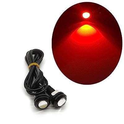 2PCS Ultrathin 18mm 9W Aigle LED Eye pare-chocs d'éclairage diurne DRL