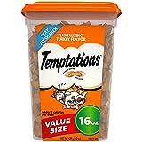 TEMPTATIONS Classic Treats for Cats Tantalizing Turkey Flavor - 16 oz. Tub