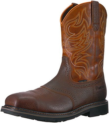 Ariat Mens Sierra Work Boots - Ariat Work Men's Sierra Shadowland Steel Toe Work Boot, Mesa Brown, 10.5 D US