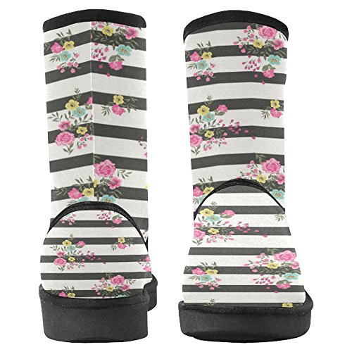 Scarponi Da Neve Womens Interestprint Design Unico Comfort Invernale Stivali Flora Modello Rosa Multi 1