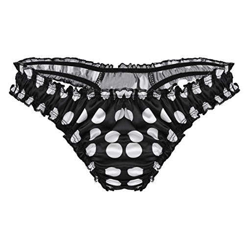 e405f2c7f5b4 iiniim Men's Frilly Underwear Sissy Maid Ruffle Lace Shiny Bikini Briefs  Panties Thongs