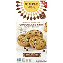 Simple Mills Naturally Gluten-Free Crunchy Cookies, Chocolate Chip, 5.5 oz