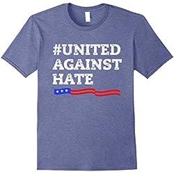 Mens United Against Hate! Anti Trump Resistance Movement! Tee 2XL Heather Blue