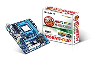 Gigabyte GA-M68MT-D3 - Placa base (Dual, 1, 5V, 8 GB, AMD, Athlon II X2, Phenom II X2, Socket AM3)