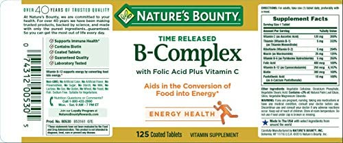 Amazon.com: Nature s Bounty Vitamina B Complejo con ácido ...