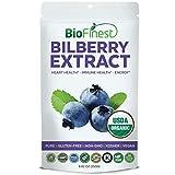 Biofinest Bilberry Extract Powder - USDA Certified Organic Pure Gluten-Free Non-GMO Kosher Vegan Friendly - Supplement for Eye Health, Circulation Support, Healthy Blood Circulation (250g)