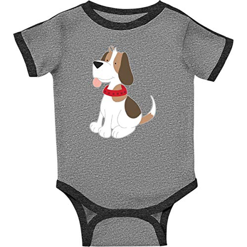 inktastic - Beagle Infant Creeper 12 Months Ringer Heather and Smoke 266d7