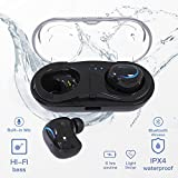 iVoice Mini Bluetooth Earbuds Wireless In-ear Invisible Noise Canceling Ear Buds Headphone with 15H Playtime Car Headset with Mic for iPhone and Android Smart Phones w/Charging Box
