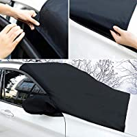 Adoric Life Windshield Snow Cover for Cars Trucks Vans SUVs,Non Scratch Magnetic Keep Your Vehicle Exterior Ice & Snow Free and Clean