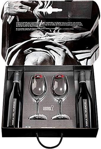 vinos habla del Silencio 2 botellas más 2 copas de riedel en estuche para regalo: Amazon.es: Alimentación y bebidas