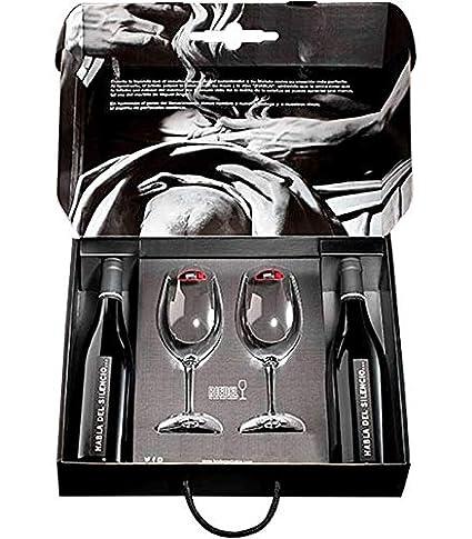 vinos habla del Silencio 2 botellas más 2 copas de riedel en estuche para regalo