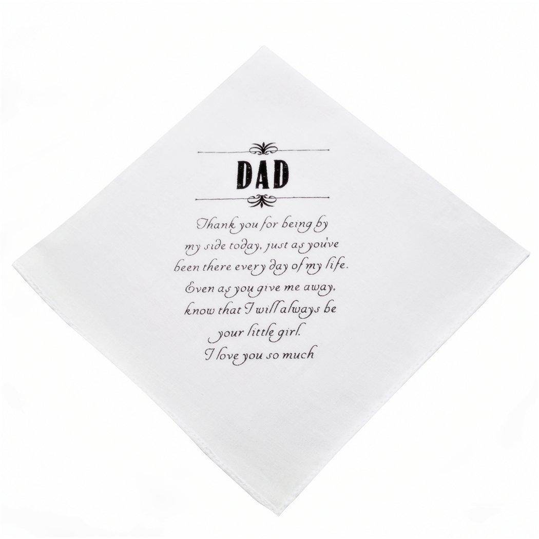 Wishprom Dad Hankie Wedding Party Gift by Wishprom