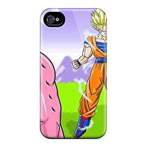 Quality RogerKing Case Cover With Kid Buu Goku Vegeta Nice Appearance Compatible With Iphone 4/4s
