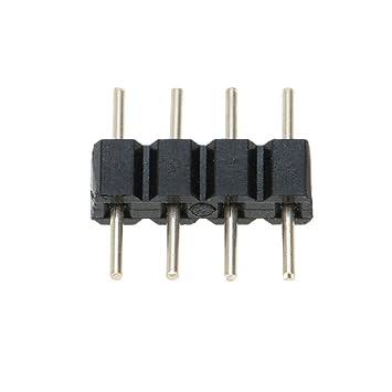 5x 4 pin Verbinder Stecker Verbindungsstück Kupplung für LED RGB Strip männlich