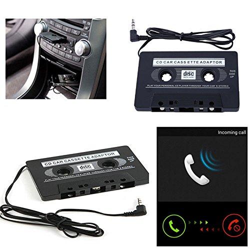 Sedeta® Cassette de cassette audio de voiture à Jack AUX Pour iPod MP3 iPhone Converter Adaptateur