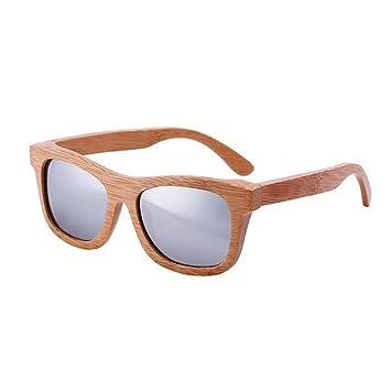 8a5dcecd19 lzndeal - Gafas de sol polarizadas y unisex, de bambú y con funda, Argent  sans Boîte: Amazon.es: Deportes y aire libre