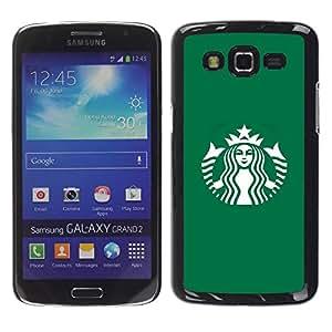 Be Good Phone Accessory // Dura Cáscara cubierta Protectora Caso Carcasa Funda de Protección para Samsung Galaxy Grand 2 SM-G7102 SM-G7105 // Coffee Shop Green Brand