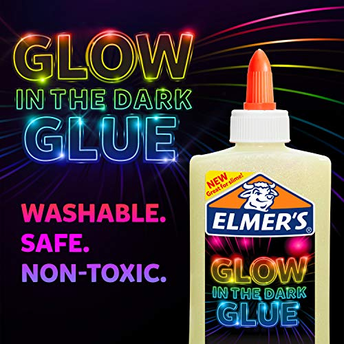 Elmer's Glow-in-the-Dark Liquid Glue, Washable, Natural, 5 Ounces, Great for Making Slime Photo #6