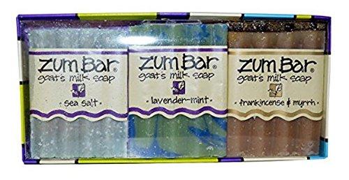 Indigo Wild Zum Bar, Goat's Milk Soaps Gift Pack, 3 Bars,...
