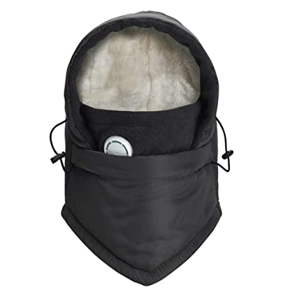 f09d78f24a3 Amazon.com  HZTG Boy Girl Winter Warm Balaclava Hat Ski Riding Waterproof  Face Mask Fleece Neck Warmer  Sports   Outdoors
