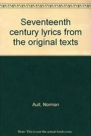 Seventeenth century lyrics from the original…