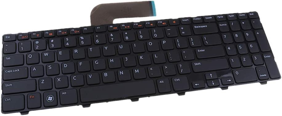 Almencla Replacement Notebook Laptop Keyboard for Dell Inspiron 15R N5110 5110 Frame