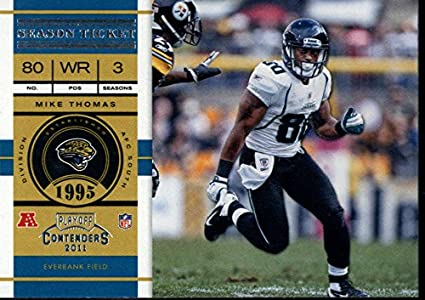 Football NFL 2011 Contenders Season Tickets #35 Mike Thomas Jaguars