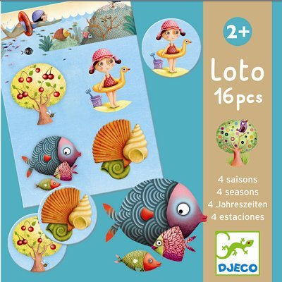 Djeco Board Game - Lotto Four - Lotto Board Game