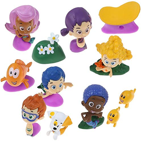 Nickelodeon Bubble Guppies Deluxe Figure Set of 10 Cake Toppers Cupcake Toppers Party Decorations