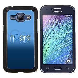 Stuss Case / Funda Carcasa protectora - Texto azul torrent Programa de Cartas - Samsung Galaxy J1 J100