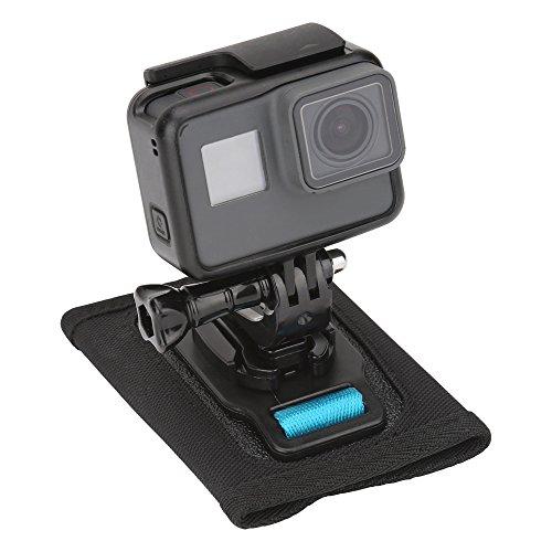 Modernlife Backpack Shoulder Strap Mount with 360 degree Rotary J Hook for Camera, Fast Release Velcro Adjustable Shoulder Strap Holder for GoPro Hero/Fusion/Session, Xiaomi, SJCAM, EKEN, SLR by Modernlife