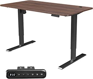 MAIDeSITe Electric Height Adjustable Standing Desk,55''x28''Home Office Desk,Wood Modern Furniture for Living Room, Décor, Display (Brown)