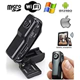 MD99S Professional High Definition Wireless P2P Pocket-size Mini IP DV / WiFi Spy Camera / Camcorder for iPhone / Android(Black)
