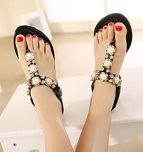 Clip Toe Aisun Perles Mode Femme AfAOaW