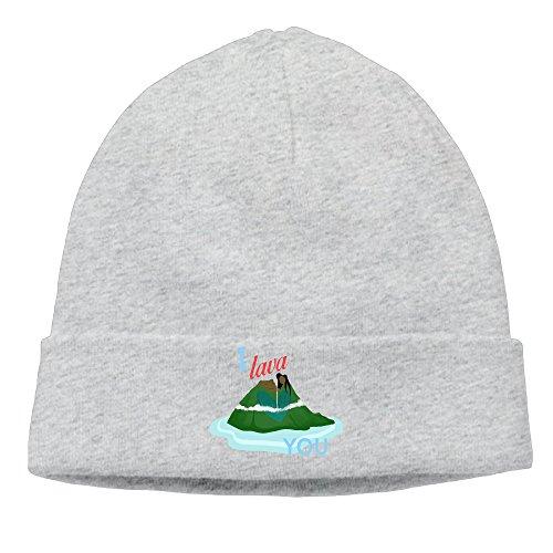 Caromn I Lava You Volcano Beanies Skull Ski Cap Hat Ash (Tom Jones Fancy Dress Costume)