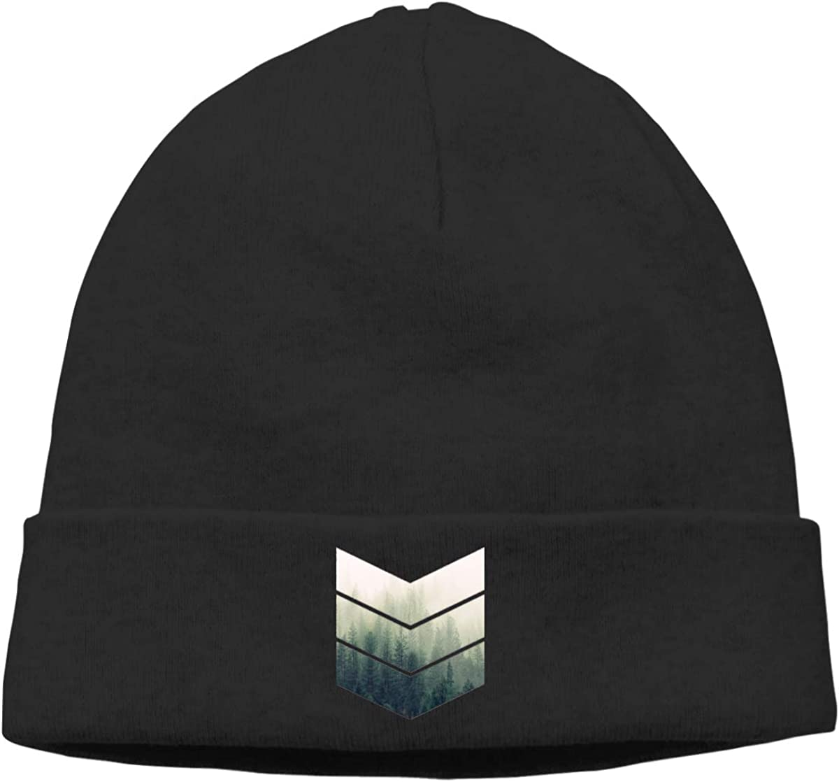 Nskngr Geometric Misty Forest Men Women Warm /& Stylish Slouchy Beanie Hat