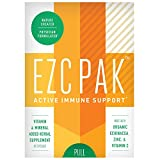 EZC Active Pak Immune Support, Echinacea, Zinc and Vitamin C, 10 Gluten-Free Vegetarian Capsules, Physician-Designed Immune Boosting Supplements (1 Pack) For Sale