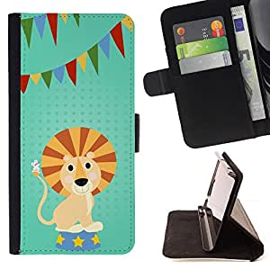 /Skull Market/ - FUNNY - LION CARTOON PARTY For Sony Xperia Z3 D6603 - Caja de la carpeta del tir???¡¯???€????€?????????&At