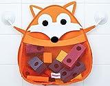 FRANKY the Fox - Bath Toy Organizer - Holder Storage mesh - Quick drying materials (Franky The Fox) Woodland Theme - Shower Caddy - Mesh Bag - Bath Toys
