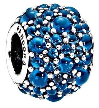 Pandora Shimmering Droplets Charm, London Blue Crystal 791755NLB Droplet Charm