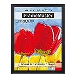 FrameMaster 24x36 Poster Frame (1-Pack); Pre-Assembled with Sturdy MDF Backer Board, Black