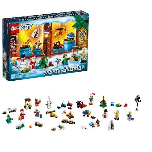 LEGO City Calendar 2018 Newest Edition Minifigures Small Building Toys, Christmas Countdown Calendar Kids (313 Pieces)
