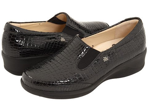 Finn Comfort Women's Tallinn Loafers,Black Paranalack Leather,3.5 M UK